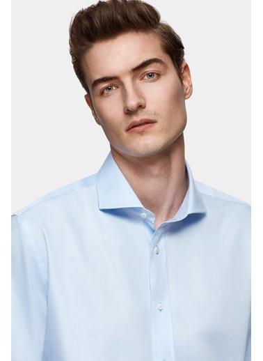 Damat Comfort Düz Nano Care Gömlek Mavi